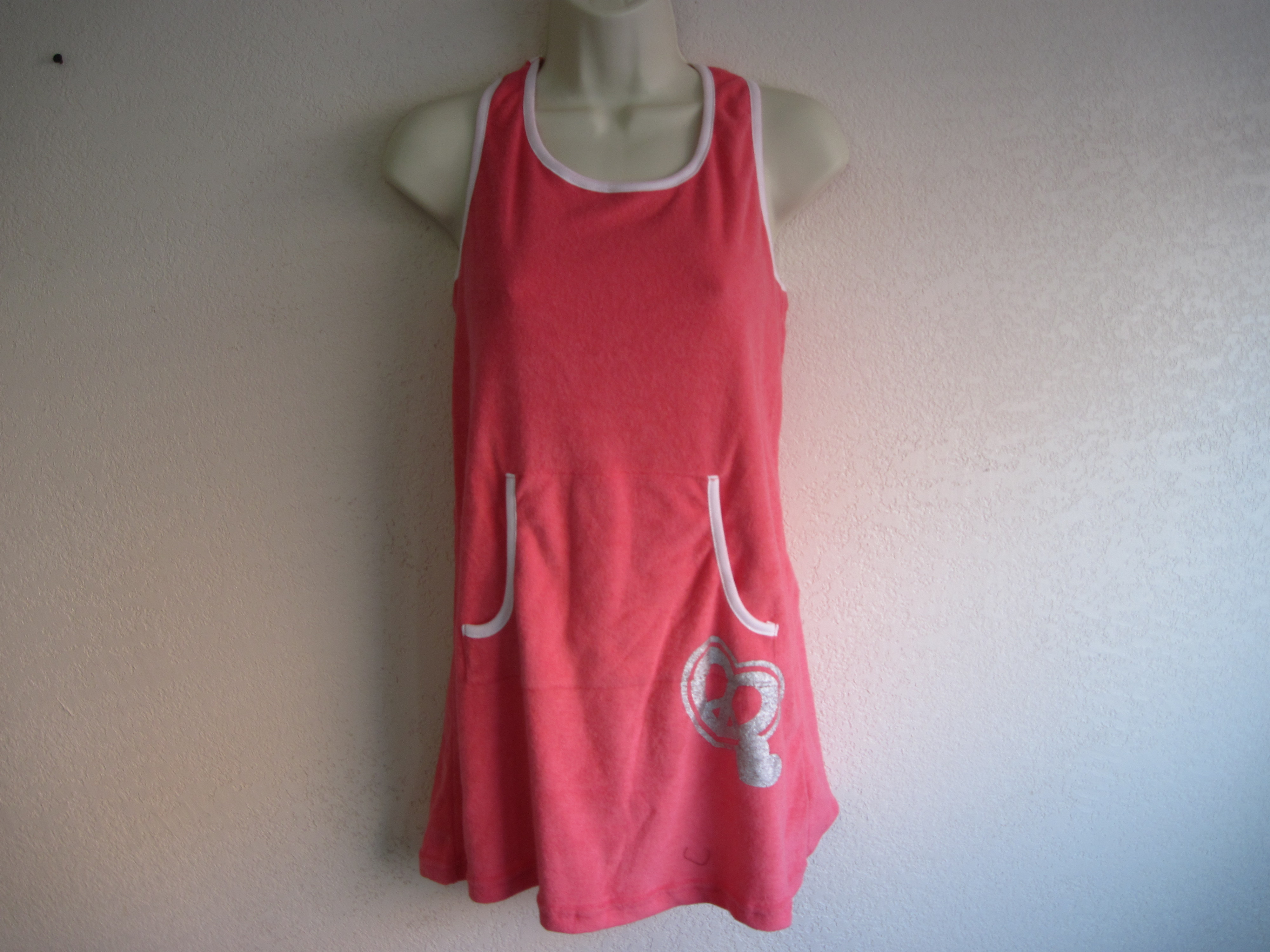 Joe Boxer Girls Sz L 10/12 Swim Cover up (coral)