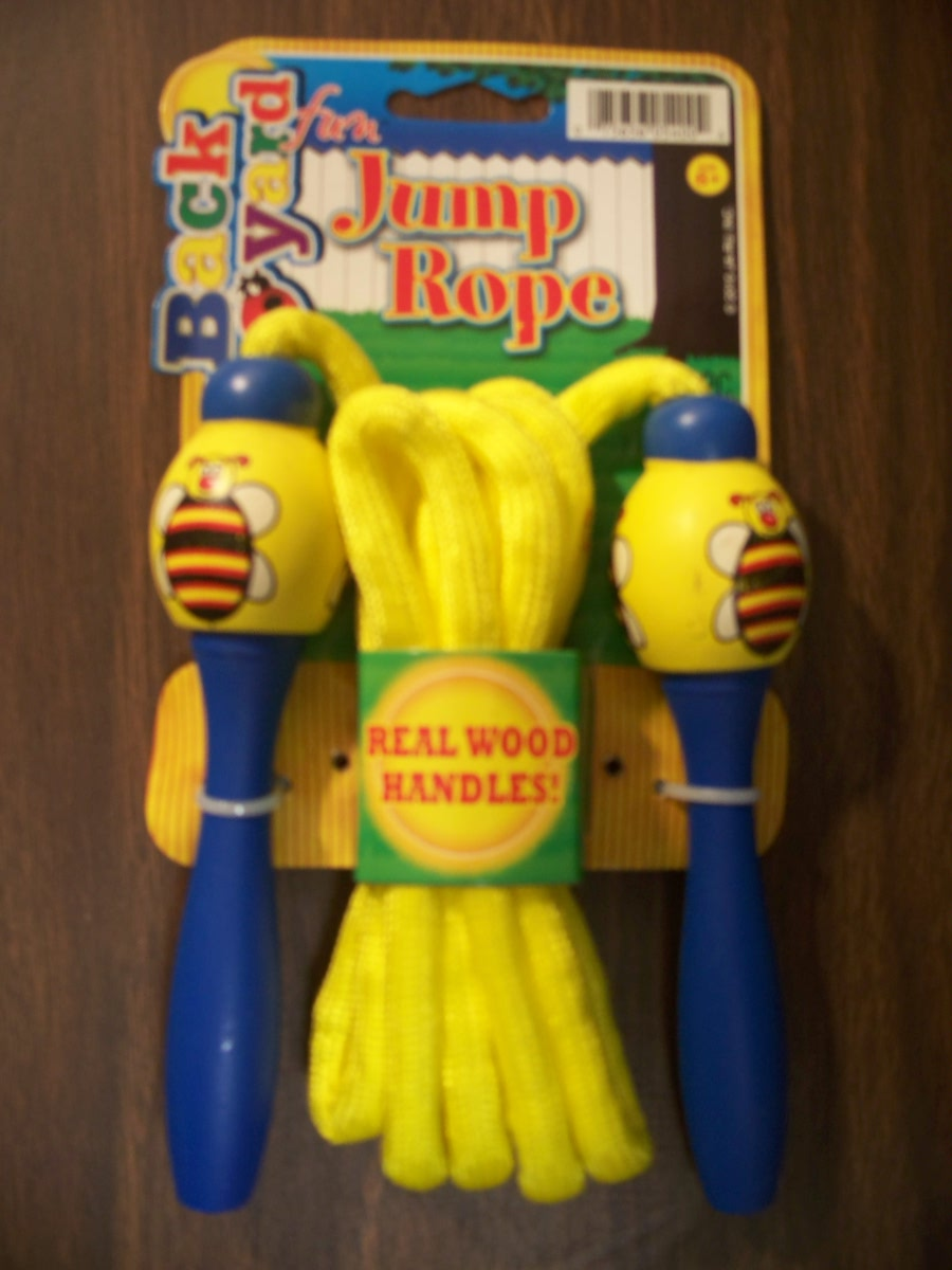 Jump Rope (blue,yellow with bee handles )
