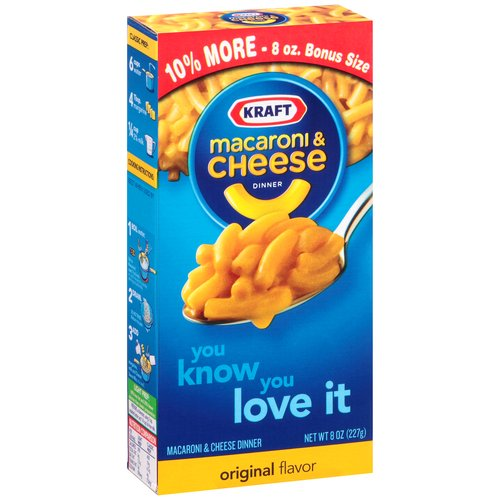 Kraft Macaroni & Cheese Dinner, 8 oz