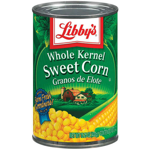 Libby's Whole Kernel Sweet Corn, 15-Ounce (12pk)