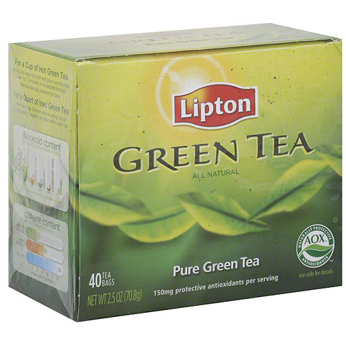 Lipton Pure Green Tea, 40ct (Pack of 6)