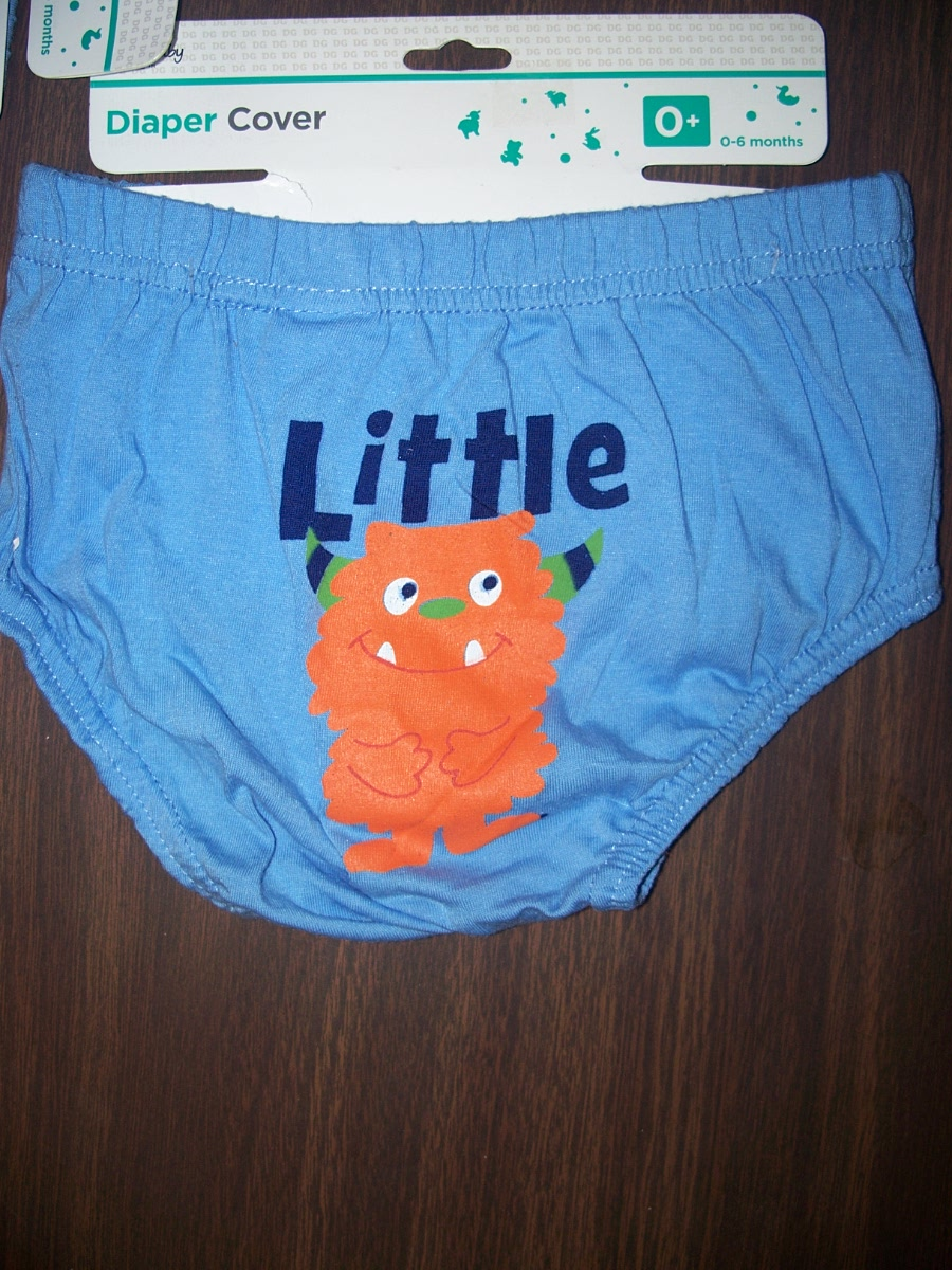 "Diaper Cover""Little Monster"" 6-12 Months (blue)"