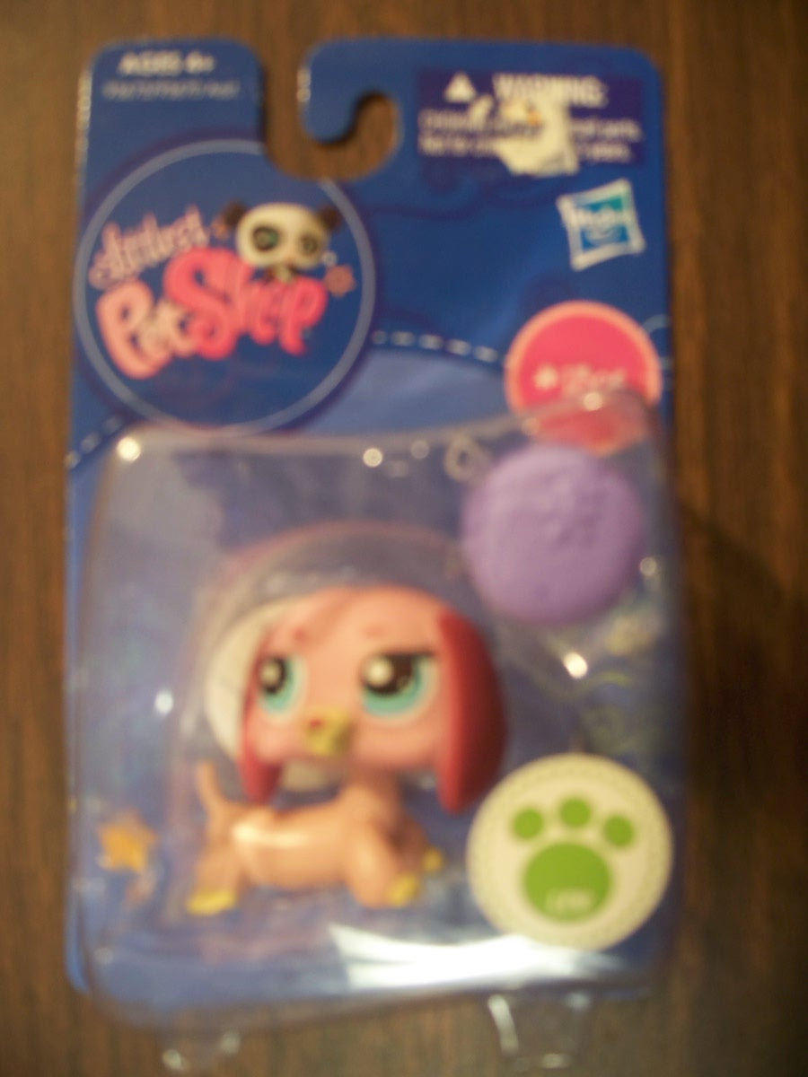 Littlest Pet Shop ( Dashshund Puppy Dog Pink 1306 )