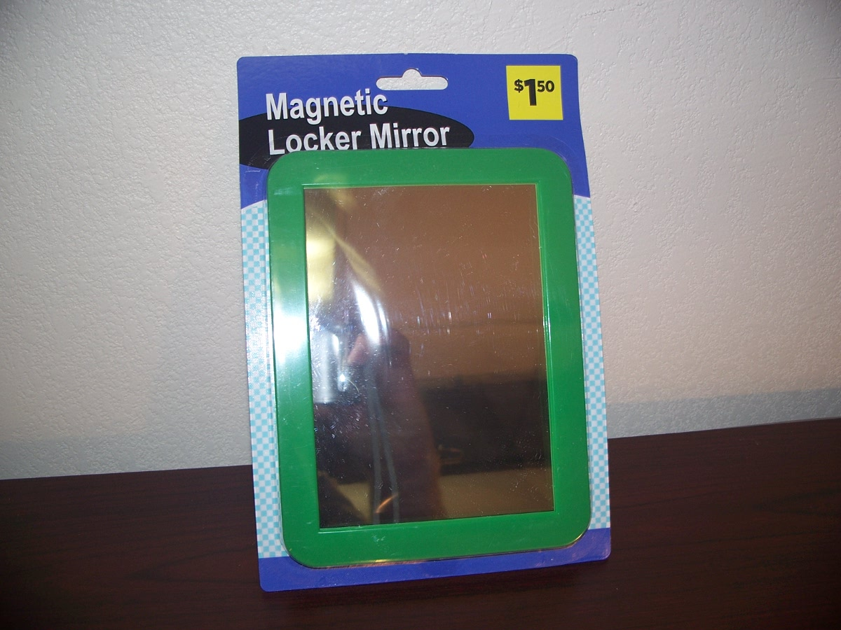 Magnetic Locker Mirror ( green )