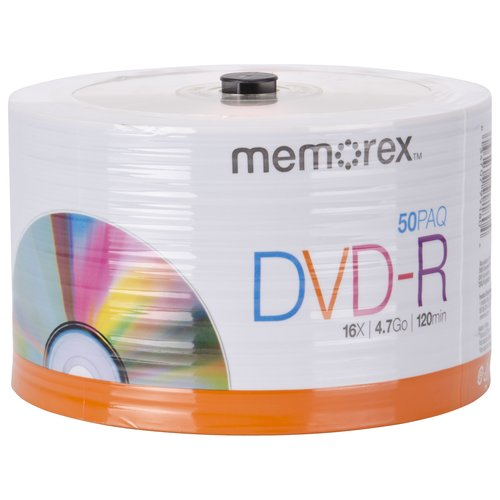 Memorex DVD-R 16X 4.7GB Eco Spindle, 50pk
