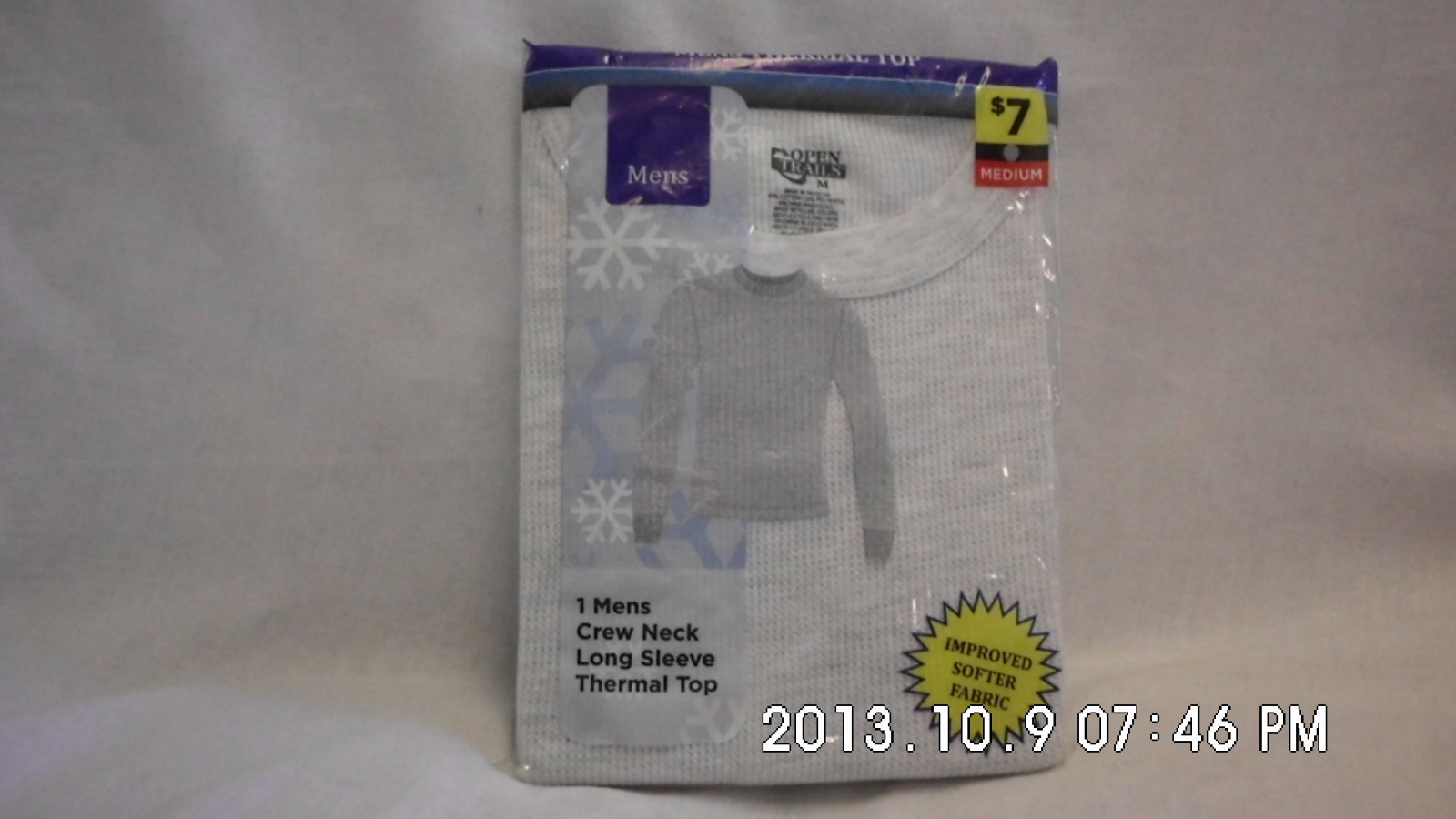 MENS THERMAL TOP -GREYISH WHITE SIZE MEDIUM
