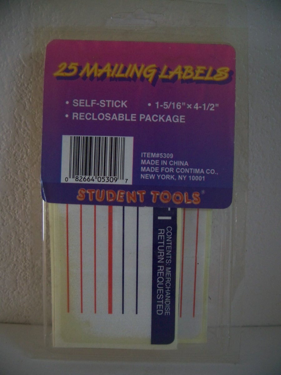 Mailing Labels 25 pk