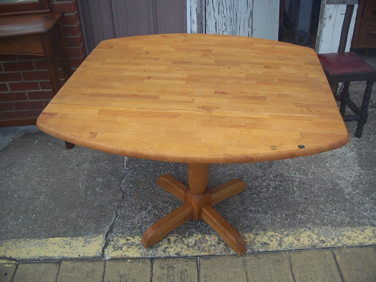 Drop Leaf Table Natural Finish