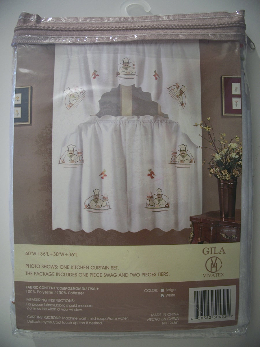 Gila Vivatex Kitchen Curtain Set Chef Pattern