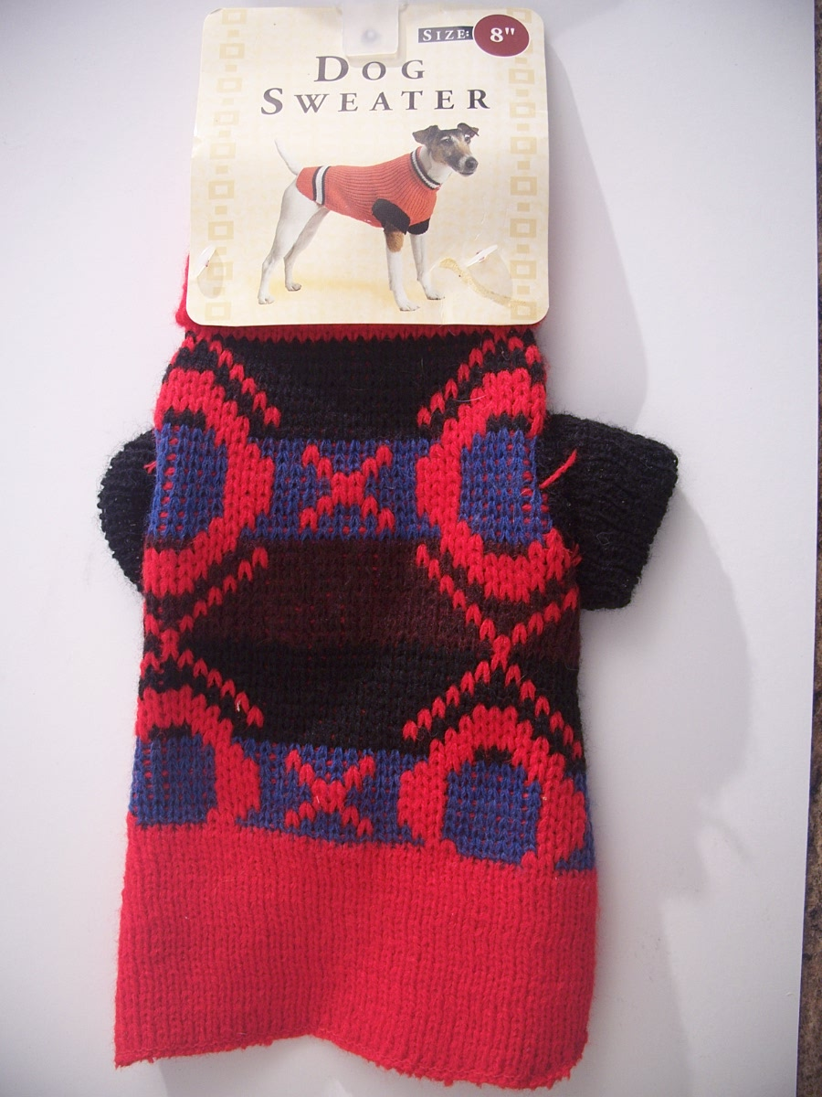 Dog Sweater Mad in America Size 8""