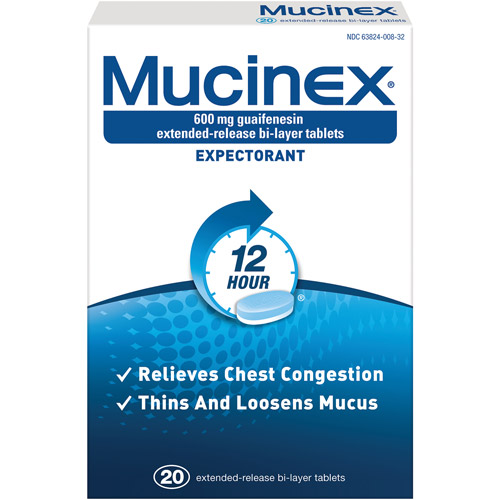 Mucinex 600 Mg Guaifenesin Extended-Release Bi-Layer Tablets Exp