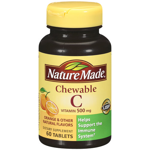 Nature Made Vitamin C Chewable 500 mg Tablets 60 ct
