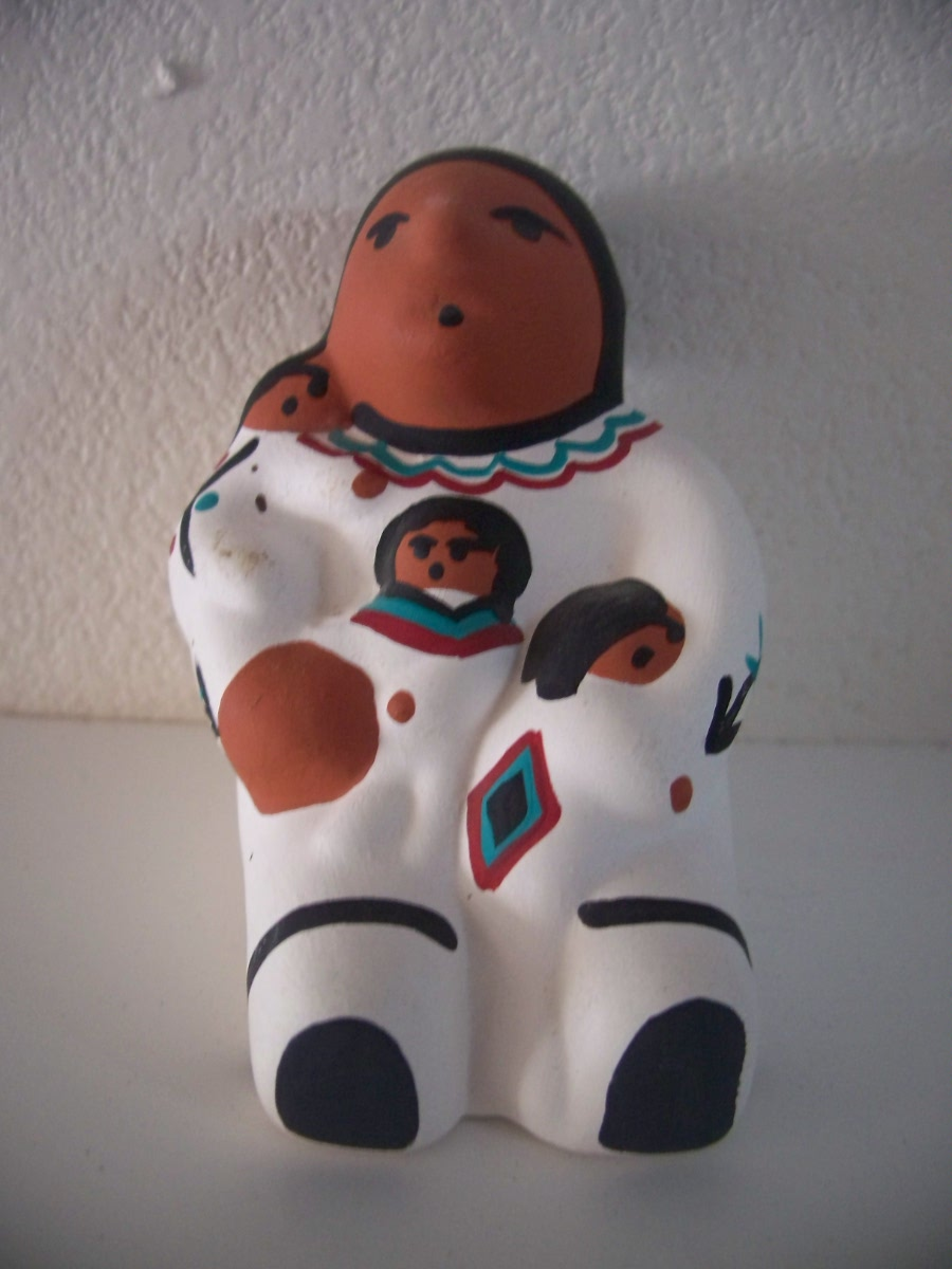 Very Cute Indian Mom and Kids Pottery Hand Crafted