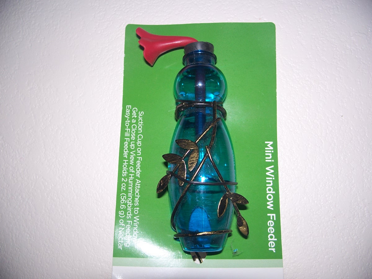 Window Hummingbird Feeders Blue - New