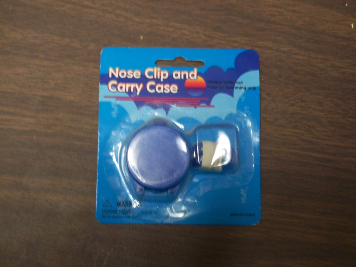 Nose Clip and Carry Case Blue