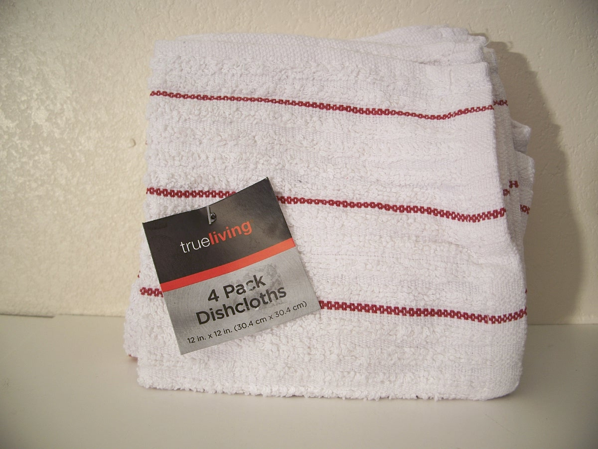 Trueliving 4 Pack Dishcloths 12in x 12in