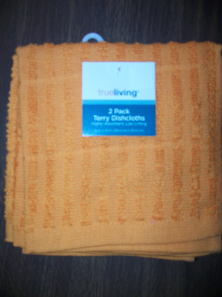 2 Pack Orange Terry Dishcloths