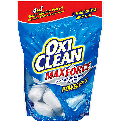 Oxi Clean Max Force Laundry Stain Fighter & Booster Power Paks,