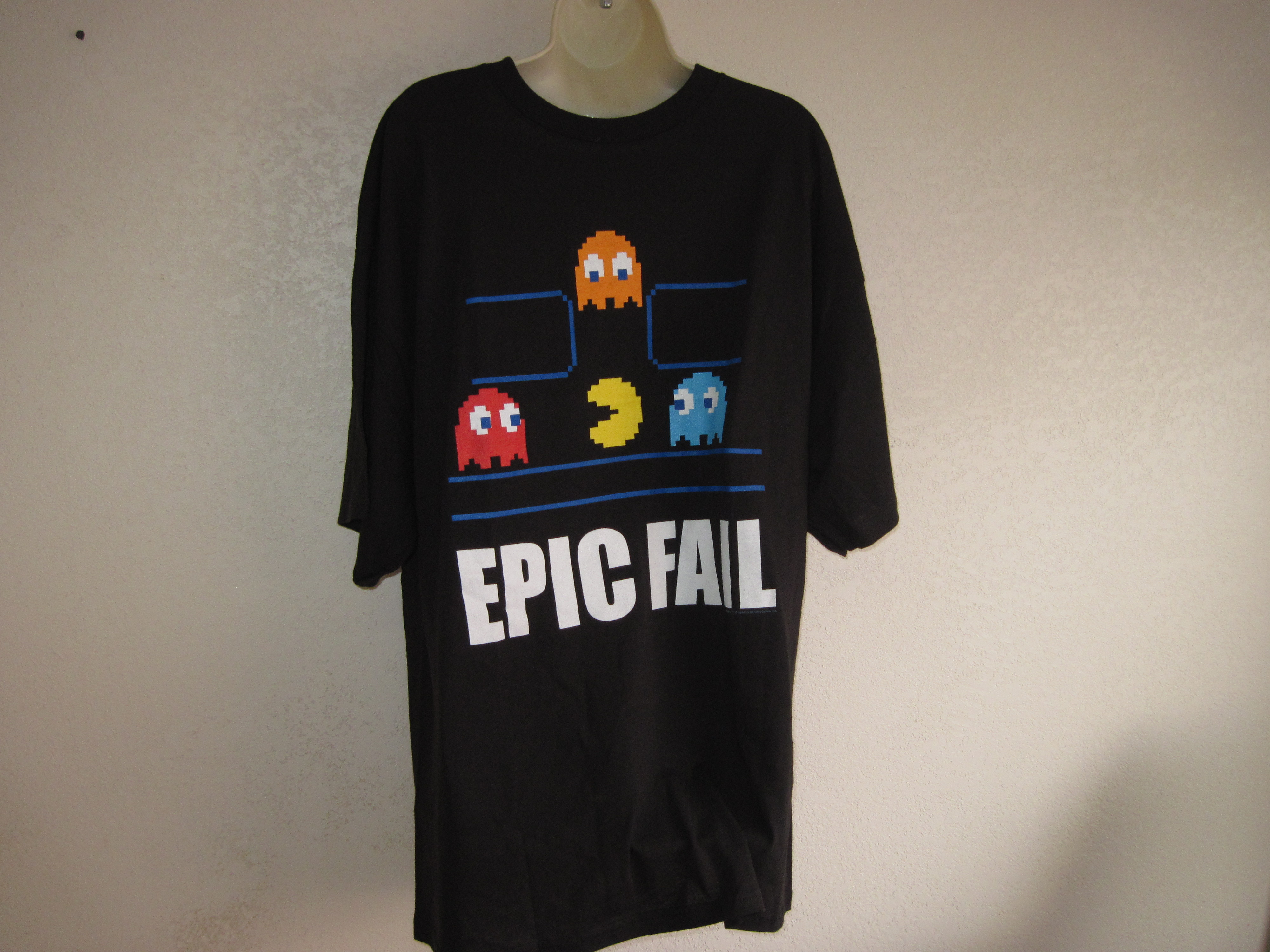 Delta Brand Sz 2XL PAC-MAN T-Shirt black