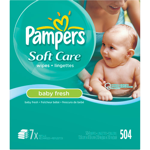 Pampers Soft Care Baby Fresh Baby Wipes Refills, 504 count
