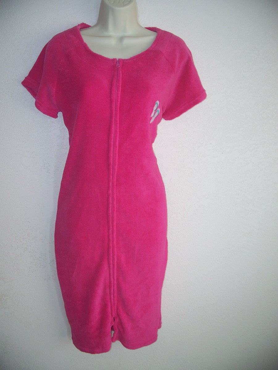 Carol's Sz Small Pink After Bath Cover Up Robe
