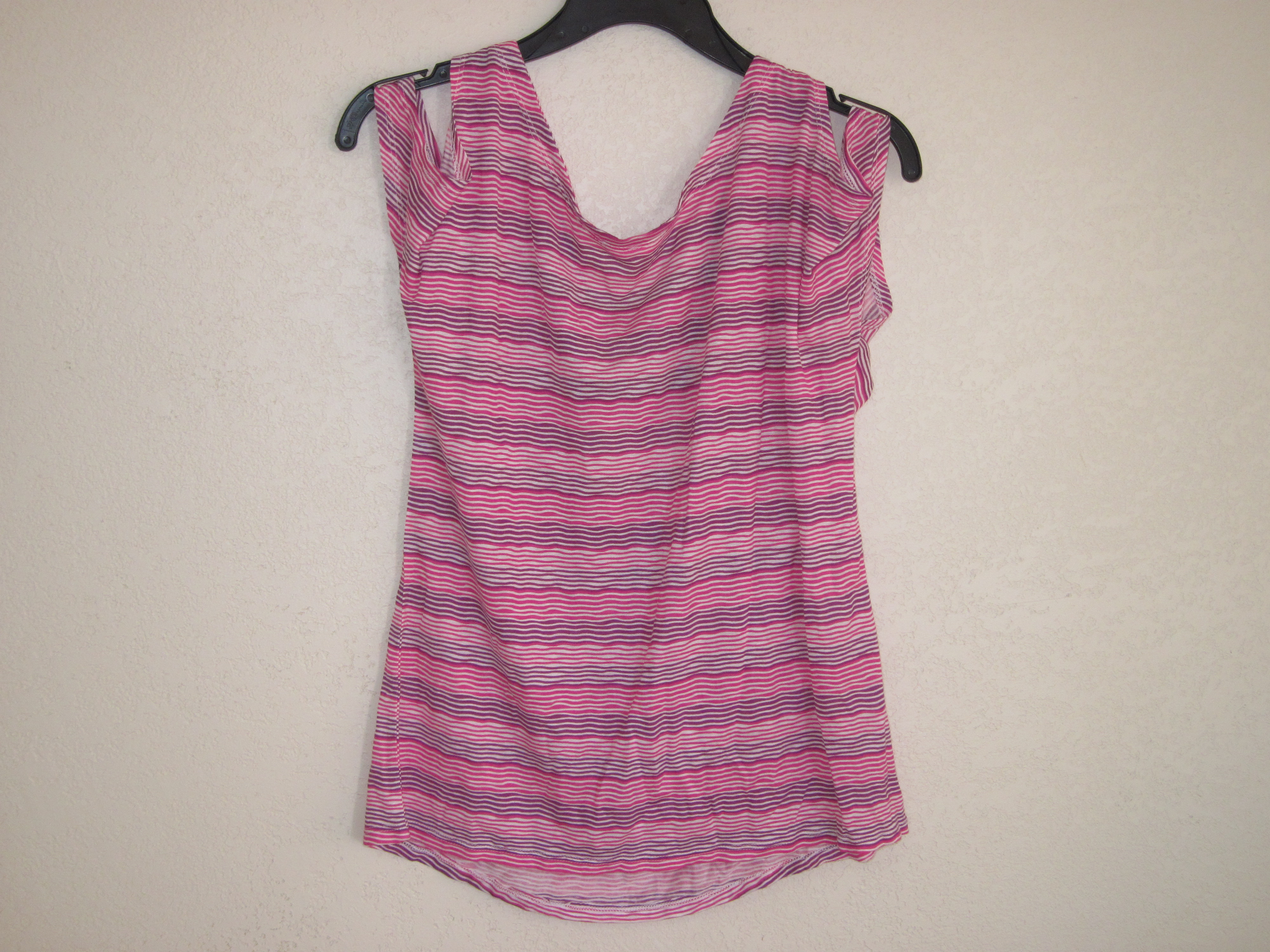Dream Out Loud Sz XL Short Sleeve Striped Shirt pink & purple