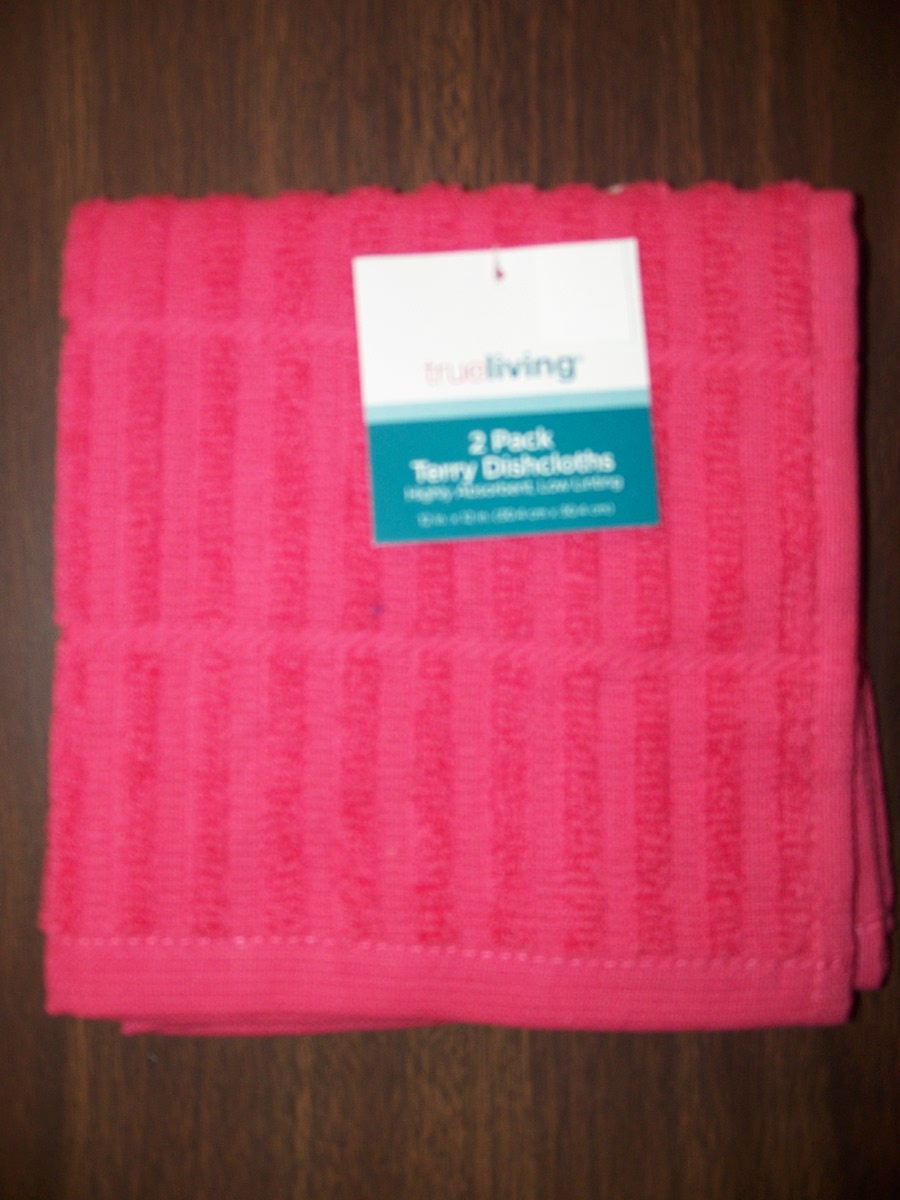 2 Pack Pink Terry Dishcloths