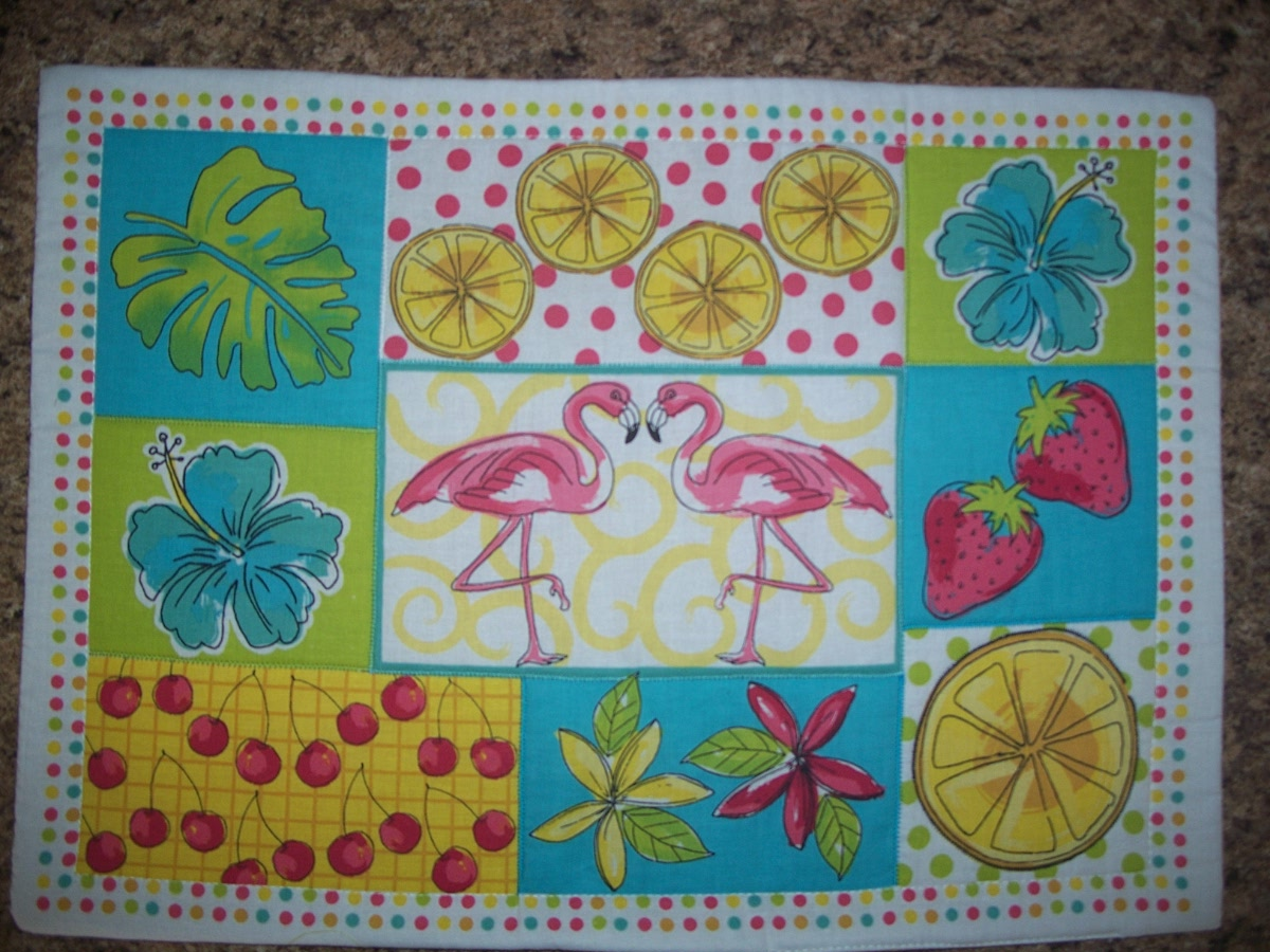 Placemat (Pink Flamingo,Fruits Flowers,Leafs