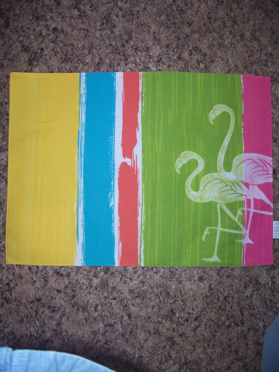 Placemat (Yellow,Blue,White,Green,Pink, White Flamingo