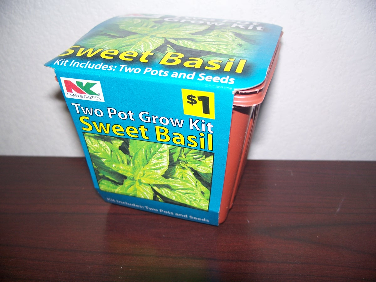 Two Pot Growing Kit Sweet Basil