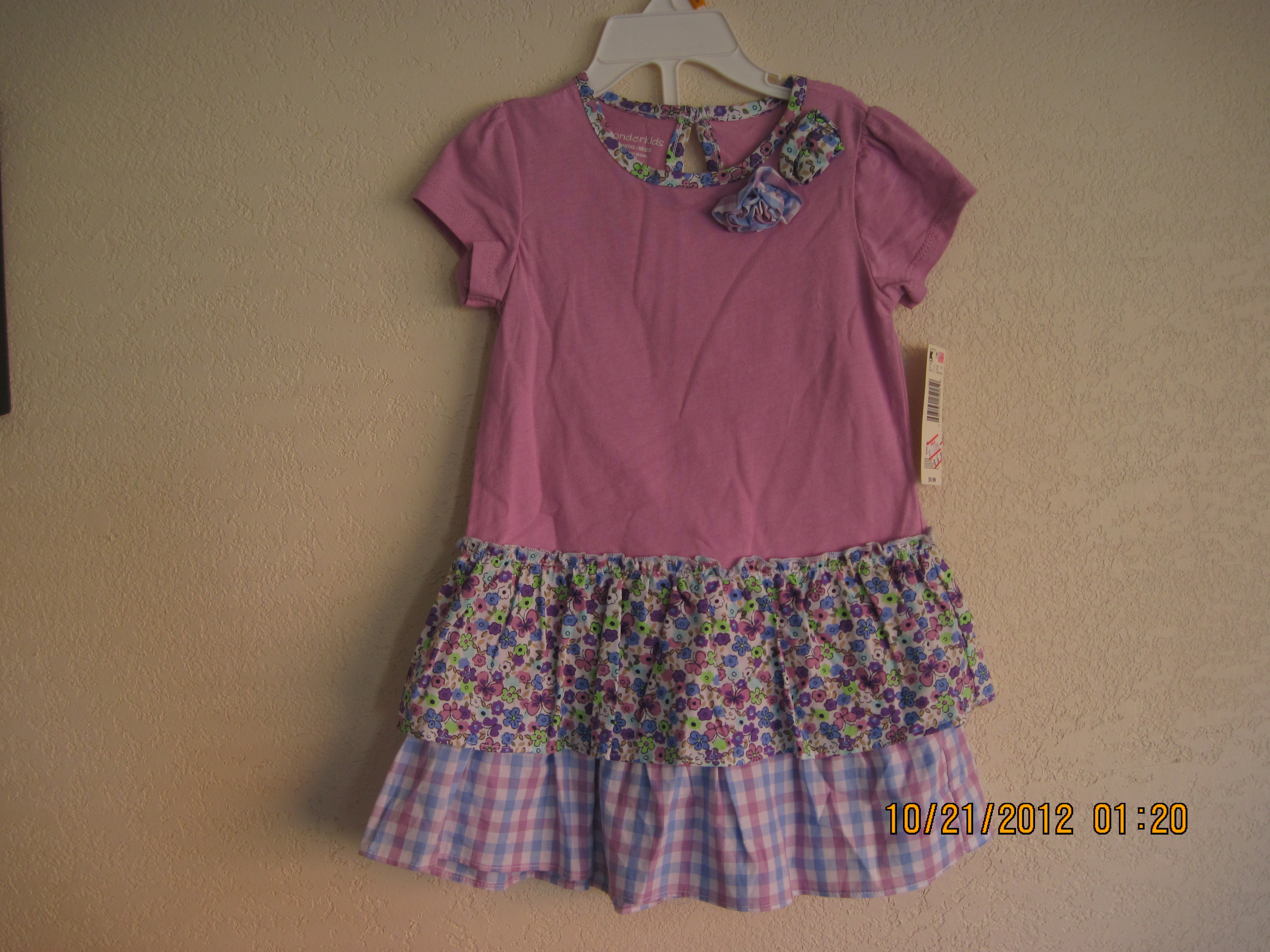 WonderKids Purple Dress with Flowers & Pants