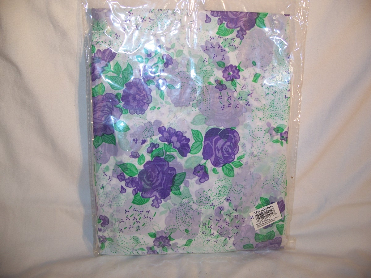 American Family Purple Flowers Shower Curtain