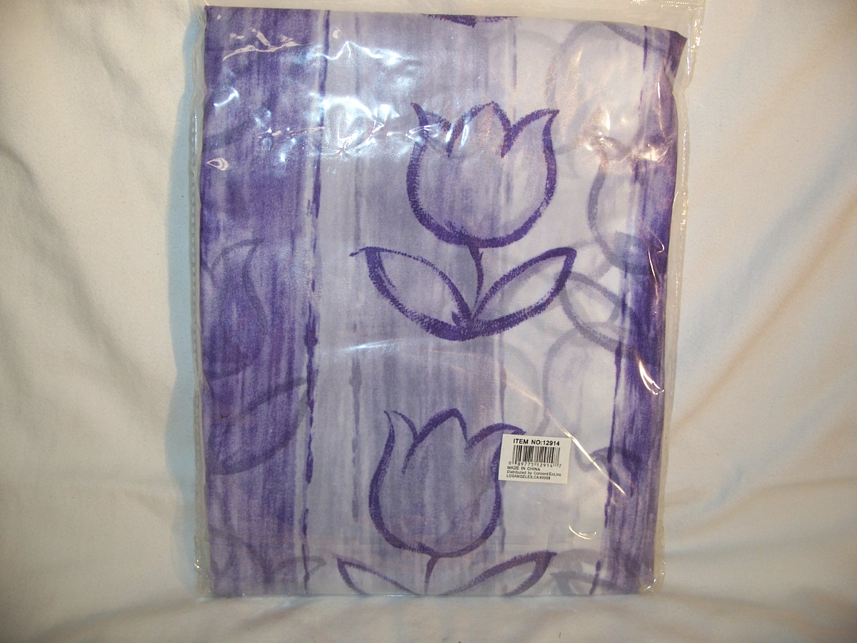 American Family Shower Curtain (Purple)