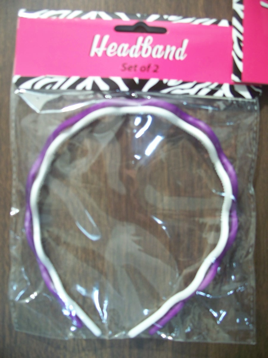 Headbands Set of 2 ( Purple & White )