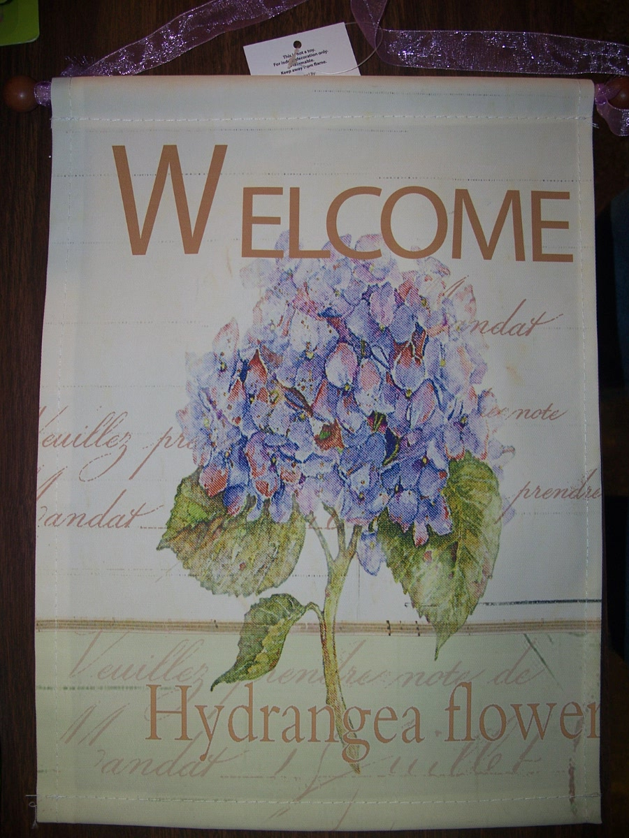 "Decorative Banner ""Welcome Hydrangea Flower(purple)"
