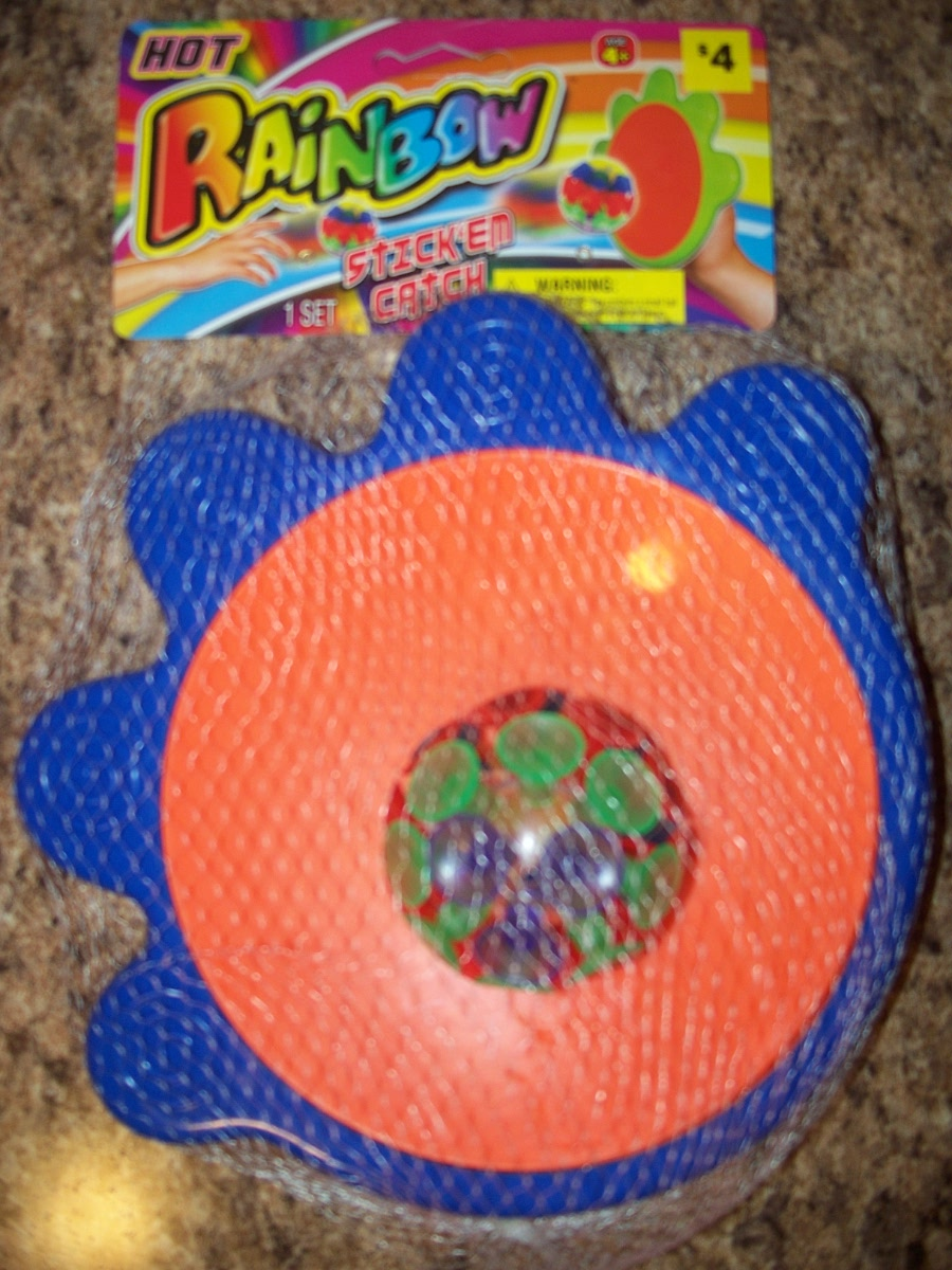 Hot Rainbow (stick-em catch orange & blue)