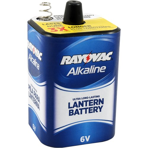 Rayovac Alkaline 6V Lantern Battery lasts 3x Longer