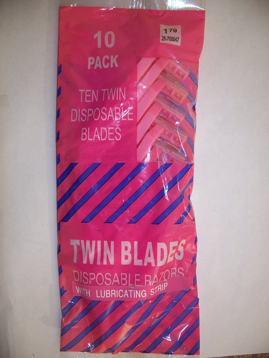 10 pk Twin Disposable Blades with Lubricating Strip
