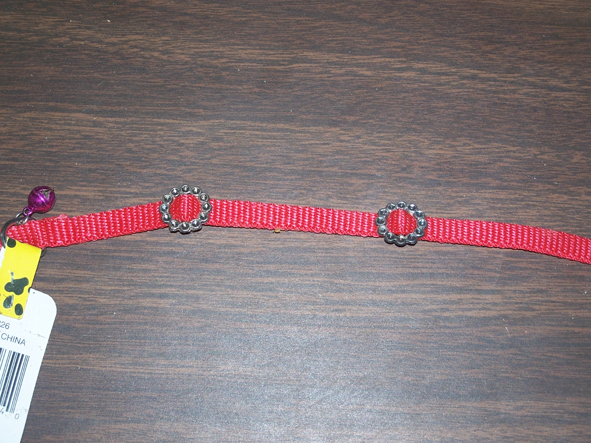 Tiny's Cat Collar with Bell (Red)