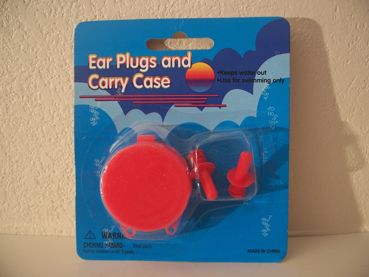 Ear Plugs and Carry Case - red