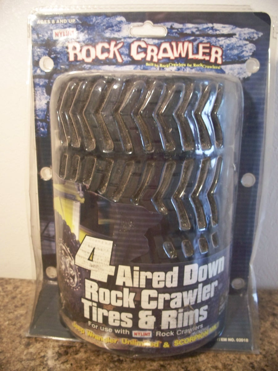 4 Aired Down Rock Crawler Tires & Rims