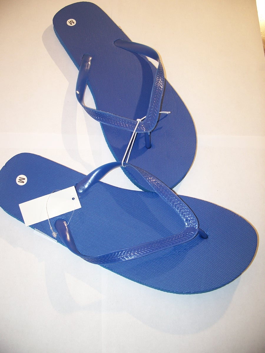 Flip Flops Blue Size Medium 10 / 11