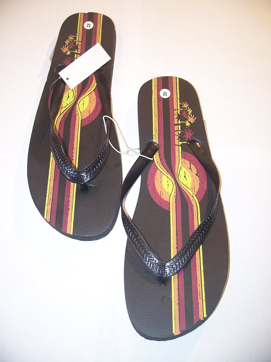 Flip Flops Dark Brown Size Medium ( 10 / 11 )