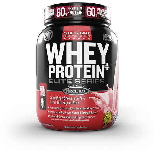 Six Star Whey Protein Powder, Strawberry, 2lbs