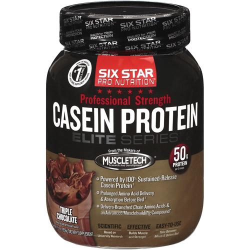 Six Star Pro Nutrition Casein Protein Triple Chocolate 1.5 lb