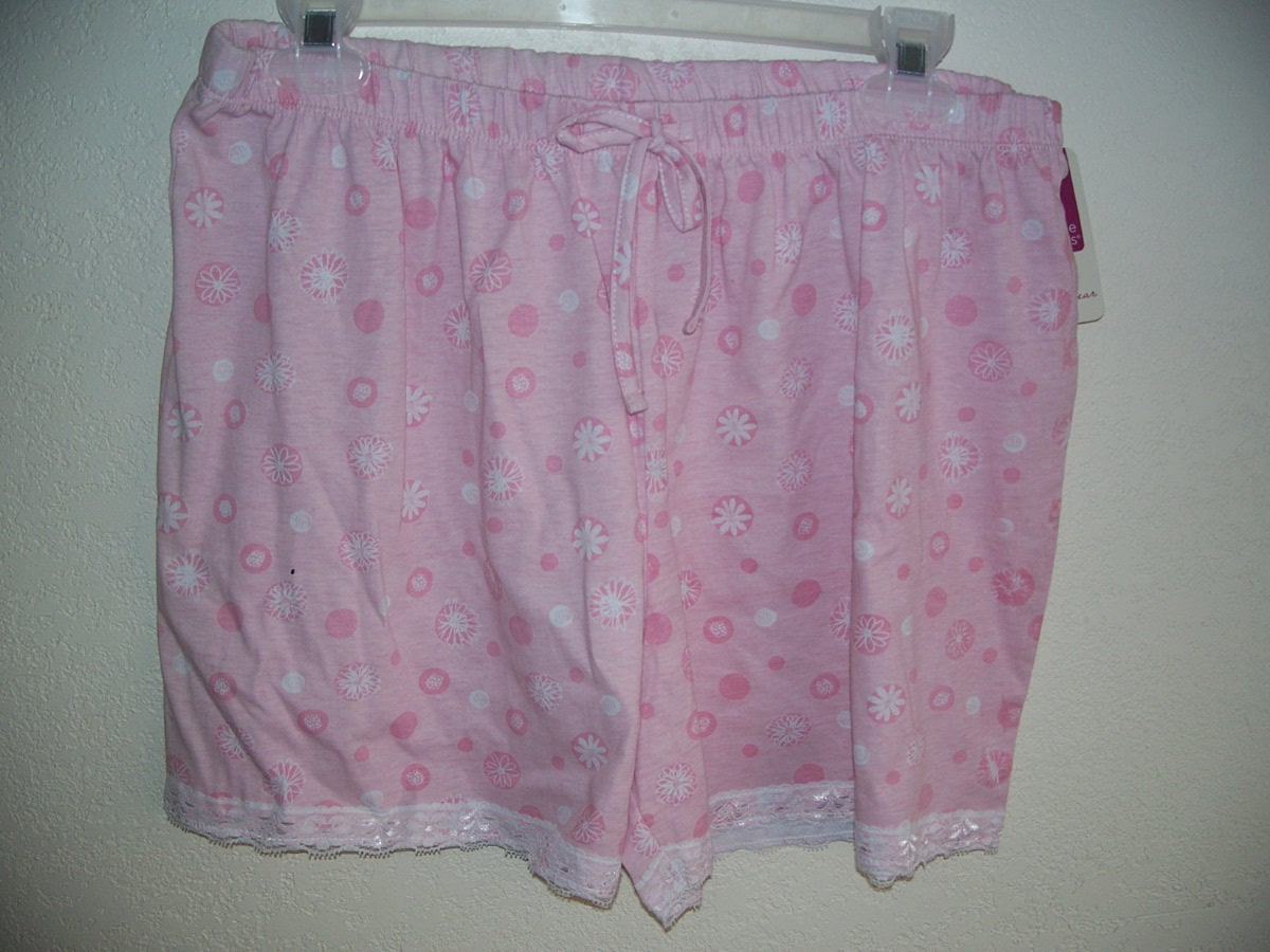 Sz Lg 12-14 Pink Sleep Shorts