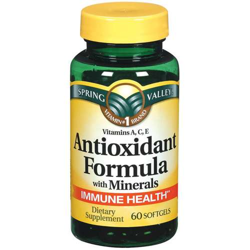 Spring Valley: Antioxidant Formula w/Minerals Softgels Dietary S