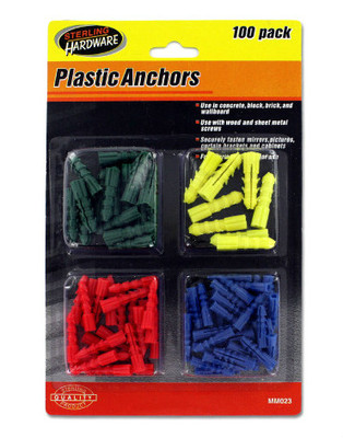 100 Piece Wall Anchor Assortment