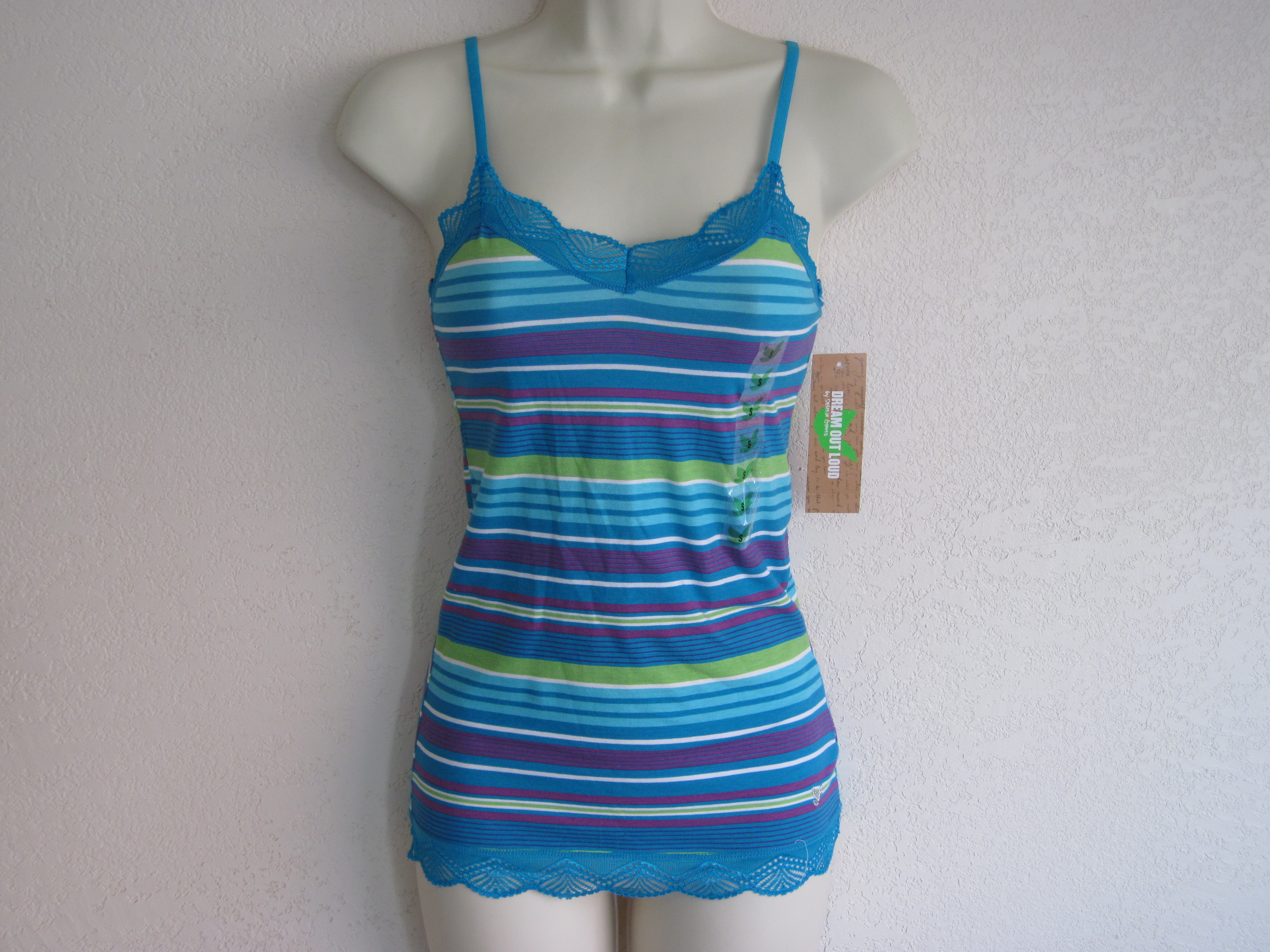 Dream Out Loud by Selena Gomez Striped Cami blue purple green