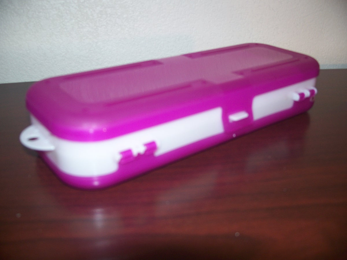 Pencil Case ( purple & white )